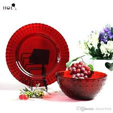 red glass dinner plates s avon ruby 9