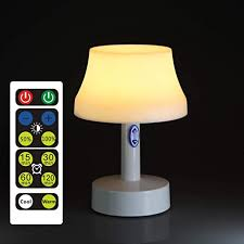 Living Room Remote Control Battery Powered Dimmable Table Lamp With Timer Function For Bedroom Portable Simple Design Nursery Lamps Kids Room Zeefo Led Night Light Remote Control Led Night Light Wall Lights