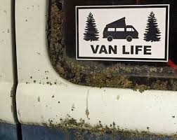 Van Life Window Decal Bumper Sticker 3x5 Inches Etsy