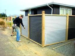 fence panels corrugated metal fence