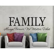 Wall Decal Family Always Forever No Matter What
