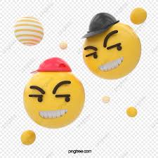 3d الكرتون ستيريو المجال ابتسامة حزمة الرموز التعبيرية مضحك مضحك
