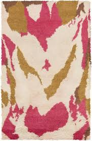 liona cream and hot pink rug