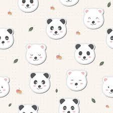 cute adorable panda white bears cartoon