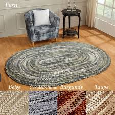 ombre chenille reversible braided oval rugs