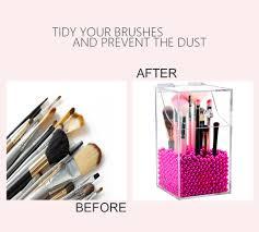 clear makeup brush holder mexten