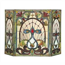 tiffany style stained glass 3 section