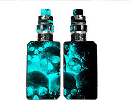 Amazon Com Decal Kid Skin For Voopoo Drag 2 Blue Skulls 01 Protective Durable Unique Vinyl Decal Wrap Cover Easy To Apply Remove And Change Styles And Change Styles