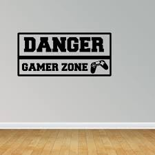 Danger Gamer Zone Vinyl Wall Decals Vinyl Decals Video Game Decal Kids Room Decal Pc132 Walmart Com Walmart Com