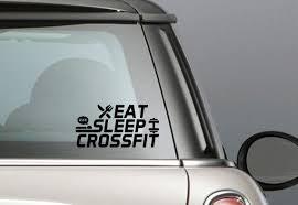 Eat Sleep Crossfit Fitness Vinyl Decal Window Decal Car Bumper Sticker Wall Art Magic The Gathering Vinyl Decals Window Decals