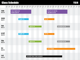 cl schedule by time