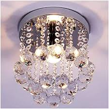 Zeefo Crystal Chandeliers Light Mini Style Modern Decor Flush Mount Fixture With Crystal Ceiling Lamp For Hallway Bar Kitchen Dining Room Kids Room 8 Inch Amazon Com