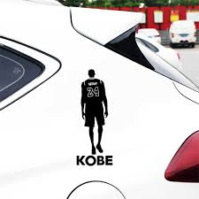 New 15 5 5cm Basketball Kobe Bryant 24 Car Auto Sticker Vinyl Window Body Bumper Stickers And Decals For Car Styling Decorations Car Stickers Aliexpress