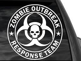 Zombie Outbreak Response Team Large Vinyl Decal Sticker Bio Skull 12 X12 Car Truck Suv Fgd Brand Family Graphix Llc