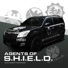40cm Grey Marvel Agents Of Shield Fpn563 Eagle Hawk S H I E L D Totem Badge Side Door Hood Skirt L Vinyl Car Stickers Marvel Agents Of Shield Agents Of Shield