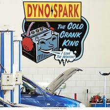 Dyno Spark Car Battery Wall Decal At Retro Planet