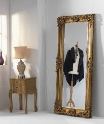 gold ornate leaner full length mirror
