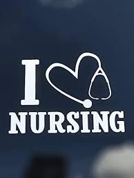 Amazon Com I Love Nursing Vinyl Decal Nurse Sticker Perfect For Tumblers Cups Bumpers Windows Auto Cars Trucks Windows Handmade