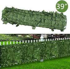 118x39 4in Artificial Hedges Fence And Faux Ivy Vine Leaf Decoration For Outdoor Decor Dearhouse Artificial