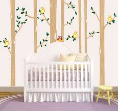 Birch Tree Forest Set Vinyl Wall Decal Owls Nursery 1321 Innovativestencils