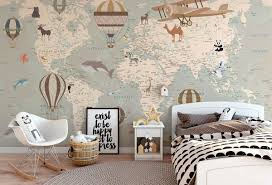 World Map Wall Decorating Ideas 50 Interior Designs In Different Styles