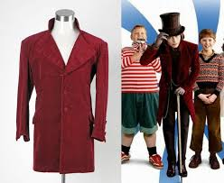 Willy Wonka Charlie and The Chocolate Factory Johnny Depp Jacket Costume  for sale online