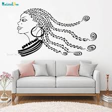 Long Dreadlocks Personalized Girl Wall Sticker Window Decal Beauty Salon Woman Africa Afro American Vinyl Removable Decor Yt1113 Wall Stickers Aliexpress