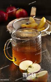 homemade baked apple liqueur with