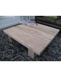 solid oak coffee table square square
