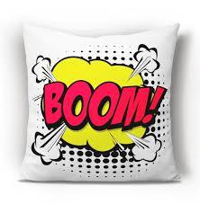 Pop Art Cushion Boom Word Cushion Kids Room Decor Cushions Etsy