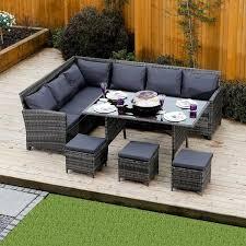9 seater rattan sofa set garden sofa