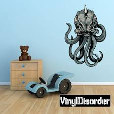 Mythical Creature Kraken Wall Decal Wall Fabric Vinyl Etsy