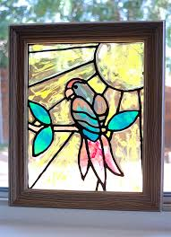 easy diy faux stained glass suncatcher