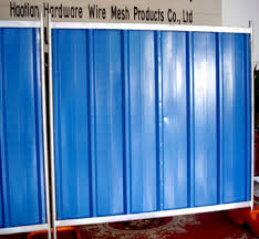 Haotian Multi Color Bond Corrugated Sheet Enclosure Temporary Steel Hoarding Panel Buy Construction Hoarding Fence Road Or Traffic Steel Hoarding Panels Colorbond Solid Temporary Metal Hoarding Fence With Steel Framework Product On Alibaba Com
