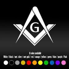6 Masonic Emblem Freemason Bumper Car Window Diecut Vinyl Decal Sticker Ebay