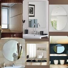 glass wall mount frameless mirrors