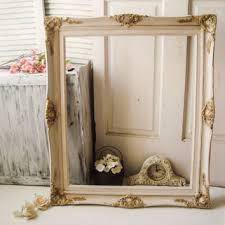 antique white and gold large ornate