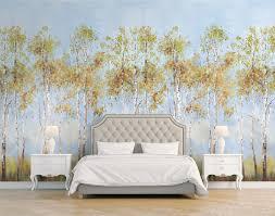jaima brown birch tree mural