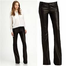 fashion slim pu leather pants