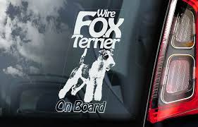 Fox Terrier Car Sticker Wire Haired Dog Window Bumper Sign Decal Gift Pet V02 Ebay