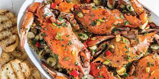 Oven-Baked Garlic Crabs - Louisiana Cookin