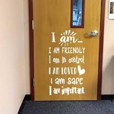 I Am Statements Positive Affirmations Decal Classroom Door Decal The Artsy Spot