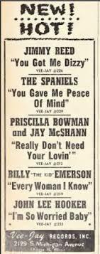 45cat - Priscilla Bowman And Jay McShan - Don't Need Your Lovin' / Hootie  Blues - Vee Jay - USA - VJ 213