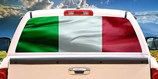 Amazon Com Signmission Italian Flag Rear Window Graphic Italy Truck Decal View Thru Vinyl Home Kitchen