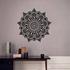 Mandala Wall Decal Flower Vinyl Wall Sticker Indian Lotus Murals Interior Home Decor Wall To Wall Decals Wall To Wall Stickers From Moderndecal 12 32 Dhgate Com
