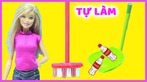 Hướng Dẫn Làm Chổi Quét Nhà Mini- Làm Đồ Hốt Rác Cho Búp Bê - Làm Slime  Glitter Kit ( Chị Bí Đỏ) - YouTube