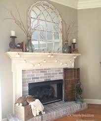 amazing mirror over fireplace mantel