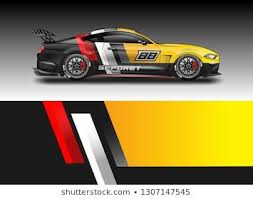 Decal Simple Racing Car Design Vector For Vehicles Racing Trucking Rallying Background Kits In 2020 Car Sticker Design Racing Car Design Car Paint Jobs