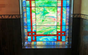 stained glass window design austin