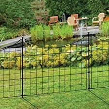 Amazon Com Wambam Fence Wf29001 Garden Metal Fence 147 5 X 25 Black Garden Outdoor